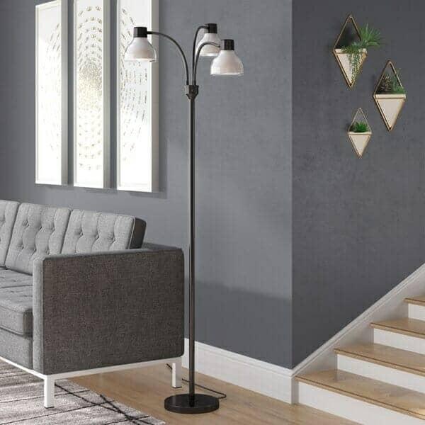 Ebern Designs Campanella 3-Arm Tree Floor Lamp
