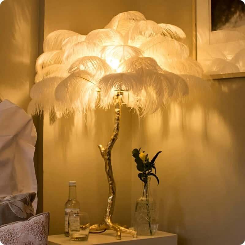 Nordic Modern Luxury Tree Branch Feather Floor Lamp